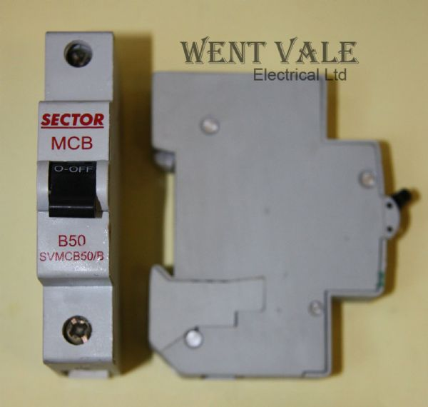 Sector SVMCB50/B - 50a Type B Single Pole MCB New